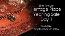 Heritage Place Yearling Sale - Thursday, September 22