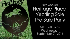 Heritage Place Yearling Sale - Wednesday, September 21