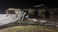 Tornado Damages Stables At Will Rogers Downs