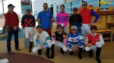 Albuquerque Downs' Jockeys Visit UNM Children's Hospital