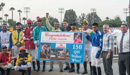 Eddie Garcia is First Jockey to Win 150 Quarter Horse Stakes at Los Alamitos